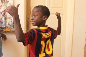 Ab diesem Zeitpunkt nenne ich ihn nur noch Messi. Er strahlt jedes Mal, wenn ich ihn sehe.