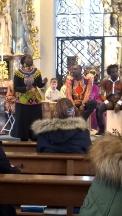 Cheikh mit den afrikanischen Musikanten.