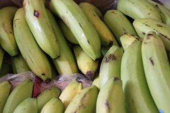 grüne, süsse Bananen