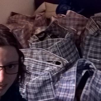 Viele Taschen im Hintergrund:-)